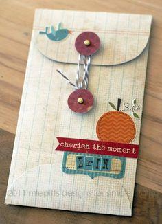 Gestalte deinen eigenen Briefumschlag. Die Anleitung (von Emely Pitts) ist mit Fotos sehr gut nachzumachen....