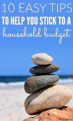 If you're over-spending each month you need to look at your household budget. Here's some tips to get your budget in check and ideas help you stick to them.