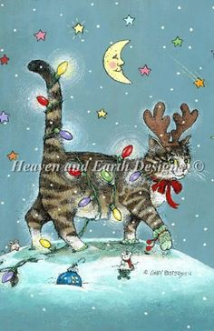 Gary Patterson Cats christmas | SCHHAE-PATTERSON106 #70110]