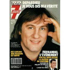 """Gérard Depardieu, vedette de """"Cyrano"""" et de """"Green Card"""" : """"Je vous dis ma vérité"""", dans Télé 7 jours (n°1604) du 23/02/1991 [couverture et article mis en vente par Presse-Mémoire]"""