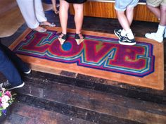 Pure wool rug made from LOVE designed by Zoe Bailey