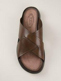 TOD'S cross strap sandal