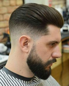20 Best Drop Fade Haircut Ideas for Men Long Top Taper Fade With Beard - Colorful Toupee Hairs Mens Hairstyles With Beard, Cool Hairstyles For Men, Undercut Hairstyles, Boy Hairstyles, Hair And Beard Styles, Haircuts For Men, Short Hair Styles, Medium Hairstyles, Wedding Hairstyles