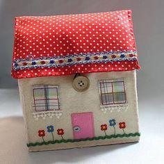 Felt cottage Sewing box