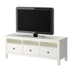 HEMNES Tv-taso - valkoiseksi petsattu - IKEA