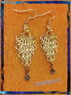 Medieval Fantasy Earrings!!    Linkdbylori - Jewelry on ArtFire