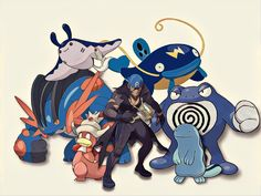 Here's my six favorite Pokemon in order from left to right (and my favorite character). Who are your favorites?