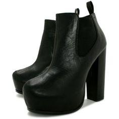 Spy Love Buy Sandra Block Heel Concealed Platform Chelsea Ankle Boots Spylovebuy. $49.95