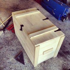 Wooden Storage Box - My Easy Woodworking Plans Diy Wood Box, Wood Boxes, Wooden Diy, Wooden Storage Boxes, Wooden Crates, Diy Storage, Storage Bins, Outdoor Storage, Storage Chest