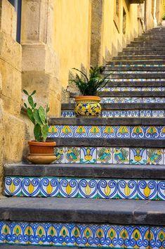 Tiled steps, Caltagirone, Sicily, 7 Oct 2017 #VisitingItaly