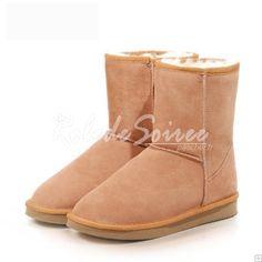 Bottes Fourrées-BGG classique à tube très sexy en cuir bottes de neige bottes po