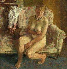 On the Sofa by Bernard Dunstan