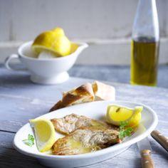 Kalbsschnitzel in Zitronensauce