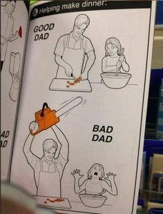 Bad Dad looks more fun funny looks humor comedy lol Funny Shit, Haha Funny, Funny Stuff, Fun Funny, 9gag Funny, Funny Dad, Bad Day Funny, All Meme, Stupid Funny Memes