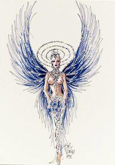 Blue Angel Showgirl - Bob Mackie