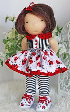 """Image of Ladybug, Ladybug . . .Outfit fits most 17"""" -19"""" dolls"""