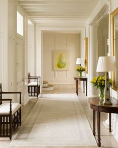 Phoebe Howard - elegant symmetry;  Benjamin Moore Cloud Cover paint color