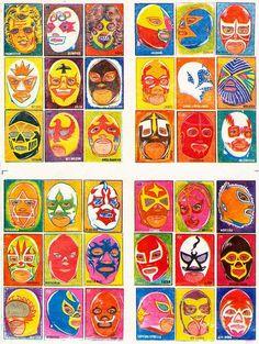 Esta es muy difícil de encontrar, pero muy fácil de recordar. Se trataba de una lotería de luchadores que se vio a mediados de los ochentas...
