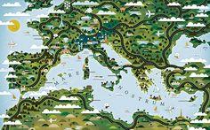 Beautiful Map Illustration Design Inspiration (http://www.onextrapixel.com/2013/03/15/beautiful-map-illustration-design-inspiration/)