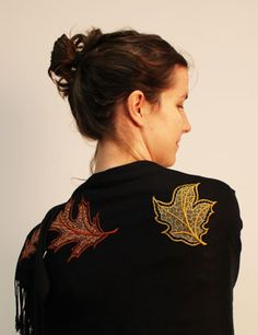 Kenny's Korner Fabrics 101: Embroidering on Pashmina