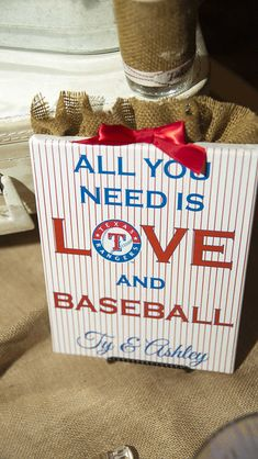 Baseball Wedding Signs by 1stComesLoveDesigns on Etsy, $4.00