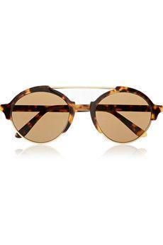Illesteva Milan III round-frame acetate sunglasses | NET-A-PORTER