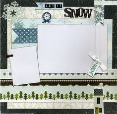 Let It Snow  Premade Scrapbook Page by SusansScrapbookShack, $15.95