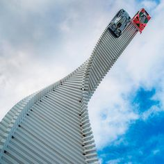 gerry judah sends mazda race cars to the sky at the goodwood festival of speed