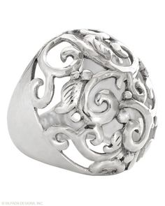 Swirly Girl #ring: Adds life to your everyday winter outfits! #SterlingSilver
