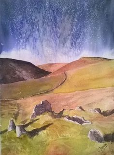 Original watercolour - Bronze age burial cist by CPascoeWatercolours on Etsy
