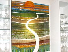 Anne Enye painting with glass - check out her gallery
