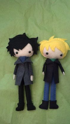 Sherlock and Watson Tall Plush Dolls by WordsToSewBy on Etsy