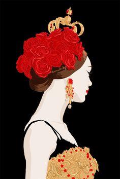 Mademoiselle Stef - Blog Mode, Dessin, Paris   Illustration Dolce Gabbana : close up   http://www.mademoisellestef.com