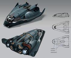 concept ships: Elite Dangerous concept art by Badger