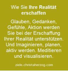 realität erschaffen