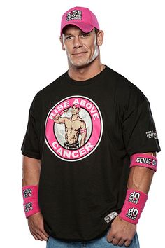 """The WWE has announced a partnership with Susan G. Komen for the Cure featuring WWE superstar John Cena co-branded, pink and black ring gear, which debuted at Sunday's """"Night of Champions"""" pay-per-view event in Boston. Breast Cancer Support, Breast Cancer Awareness, Wwe Superstar John Cena, Rap Singers, Catch, Wwe World, Wrestling Superstars, Wwe News, Raining Men"""
