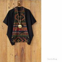 Ikat blouse Batik Blazer, Blouse Batik, Batik Dress, Batik Fashion, Ethnic Fashion, Diy Fashion, Girls Fashion Clothes, Fashion Dresses, Fashion Terminology