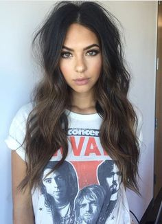 Pinterest: DEBORAHPRAHA ♥️ The perfect messy waves and straight ends hair style #hairstyles #beachy #waves