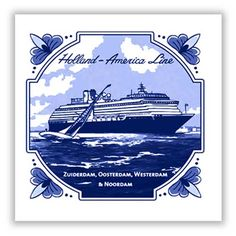 Our 2012/2013 Mariner tile for the ms Zuiderdam, Oosterdam, Westerdam and Noordam. #HAL #Mariner #Delft