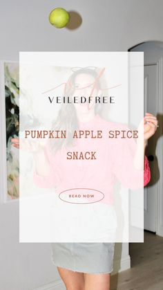 Today's recipe is simple, nutritious, and tastes like fall. I got it from Jessee (a sweet blog reader) and wanted to share it with you for the month of September. This pumpkin apple spice snack is just as tasty as the pumpkin energy bite recipe she gave me last month. If you didn't catch that blog post, you can view it here. #fall #recipes #smoothie #pumpkin #apple #spice #delicious