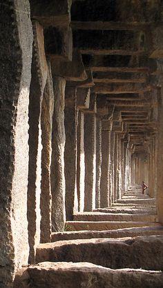 Horizontal vertigo by Hélène David-Cuny    Pilars of an old 18th century stone bridge in Srirangapatna – Karnataka – India