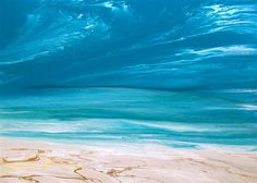 Quadro spiaggia astratta - abstract acrylic paintings Sea beach water