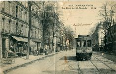 CHARENTON - LE - PONT  Charenton dans les années 1920.  La ville était alors desservie par plusieurs lignes de tramway.  La rue de St-Mandé.JPG