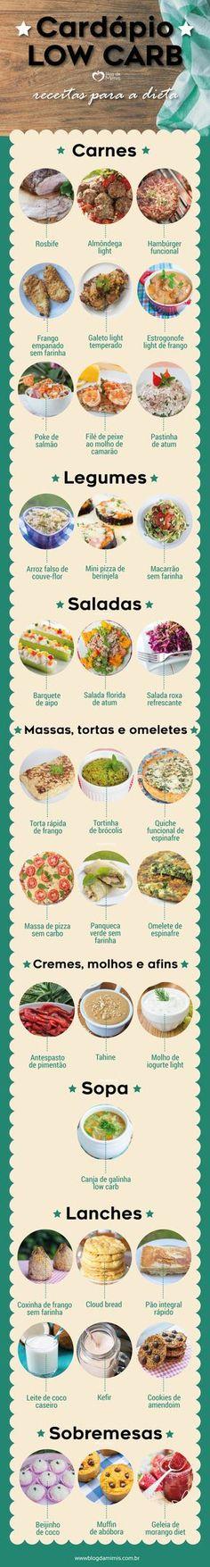 Cardápio low carb: receitas para manter a dieta - Blog da Mimis #lowcarb #diet #dieta #receitas #cardápio #emagrecer