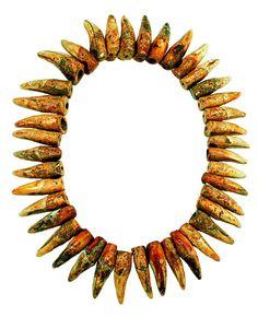 Ancient bear teeth necklace.