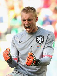 Jasper Cillessen Fotos: Niederlande gegen Mexiko: Runde von 16 bis 2014 FIFA Fussball-Weltmeisterschaft Brasilien