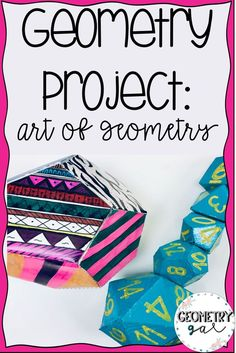 A great geometry project for middle or high school! In this project, students create 3D art sculptures using geometry shapes. Then, they write about how they made the art and what inspired them. A great cross-curricular project! #geometrygal #geometry #mi