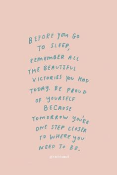 Quote, quotes, words, words to live by, motivation Motivacional Quotes, Cute Quotes, Words Quotes, Best Quotes, Sayings, Reminder Quotes, Daily Reminder, Cute Sleep Quotes, Self Reminder