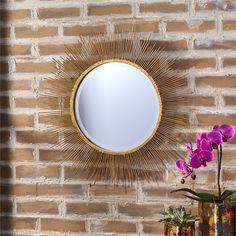 Tozai Home Gold Starburst Wall Mirror
