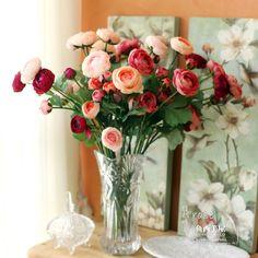 Flores Rosas Artificiais